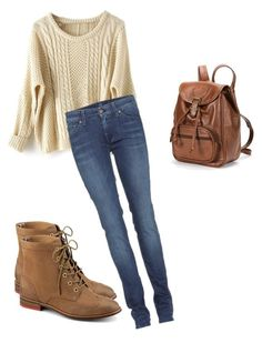Rory Gilmore by lais-franca on Polyvore featuring 7 For All Mankind, Sperry, AmeriLeather, cute, simple, celebstyle, gilmoregirls and alexisblendel