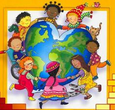 Jesus Loves All the Children of the World School Clipart, World Crafts, Operation Christmas Child, International Day, Cultural Diversity, We Are The World, World Cultures, Positive Thoughts, Sunday School