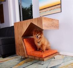 Dog Crate Table, Crate Bed, Modern Dog Houses, Pet Houses, Ranch, Dog Milk, Milk Crates, Pet Furniture, Table Furniture