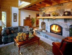 Enjoy the fireplace on a cold evening.