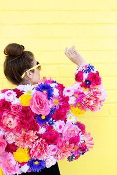 DIY Faux Flower Coat - Studio DIY
