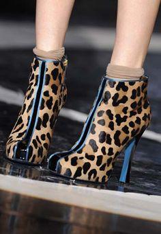 Leopard print booties!