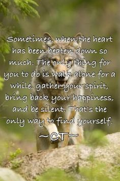 Be with yourself, heal your heart, recharge your spirit