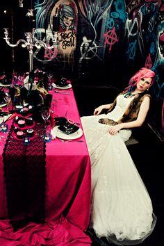 """punk"" wedding table just sayin it looks cool"