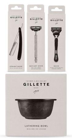 Vintage Gillette packaging