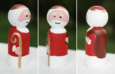 St. Nicholas, Side, front and back