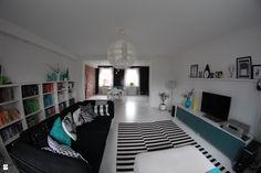 Salon styl Skandynawski - zdjęcie od Agnieszka Kijowska - Salon - Styl Skandynawski - Agnieszka Kijowska, black & white, scandinavian design, livingroom, pillows, patchwork, decoration, diy
