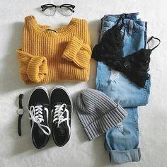Mode - Outfits Für Teenager - Moda World Teenage Outfits, Teen Fashion Outfits, Cute Fashion, Fashion Fashion, Fashion Women, School Fashion, Fashion Rings, Fashion Dresses, Teenager Mode