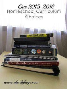 Homeschool curriculum recommendations from a classical/ Charlotte Mason family.