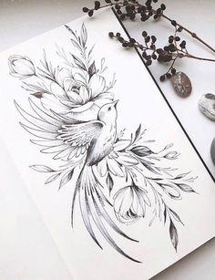 Lotusblume Tattoo, Mama Tattoo, Body Art Tattoos, Sleeve Tattoos, Tatoos, Bird And Flower Tattoo, Flower Tattoos, Unique Tattoos, Beautiful Tattoos