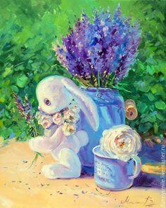 Купить или заказать Картина маслом на холсте с подрамником 40/50. Лавандовое лето. в интернет-магазине на Ярмарке Мастеров.