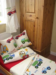 Traffic Jam Bedding Set for a Cot Bed or Junior Bed by Funkysheets, £39.99