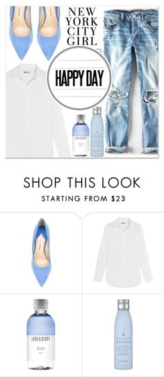 """""""Blue Feeling"""" by lucky-1990 ❤ liked on Polyvore featuring Paul Andrew, J.Crew, Lord & Berry and Drybar"""