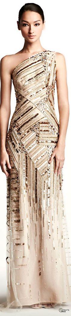 Carolina Herrera  ● Embroidered Gown