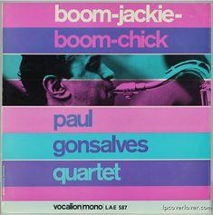 """Paul Gonzalves Quartet  """"Boom-Jackie, Boom-Chick""""  (1964)  Vocalion Records (UK)"""