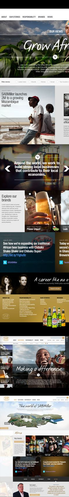 SABMiller.com by Thomas Moeller, via Behance