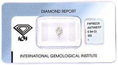 Foto 1, Diamant 0,54 Carat Tropfen-Schliff IGI-Expertise Juwel!, D5800