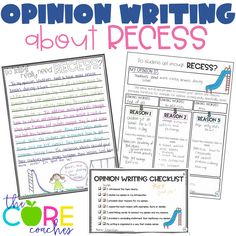 The relevant topic (recess) is motivational for students to write opinion essays.