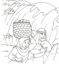 Moses And Pharaoh Coloring Pages - Coloring Home Pages St Patricks Day Jokes, St Patricks Day Pictures, Church Activities, Bible Activities, Colouring Pics, Coloring For Kids, Bible Coloring Pages, Coloring Books, Moses Red Sea
