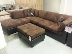 Built with durable materials and foams, this Clean-lined and Contemporary sectional that will look and feel great in any living area! We have this CONTAINER VALUE SPECIAL at a reduced price and you...////