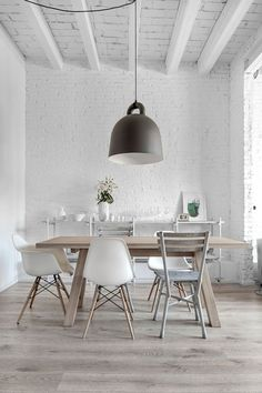 77 Gorgeous Examples of Scandinavian Interior Design Dining Room Wall Dining room wall decor Dining room table decor Rustic home decor diy Rustic living room decor Farmhouse dining room decor Dinning table decor Upper Dining Room Design, Dining Room Table, Kitchen Dining, Dining Rooms, Dining Area, Dining Chairs, Dining Furniture, Eames Chairs, Furniture Design