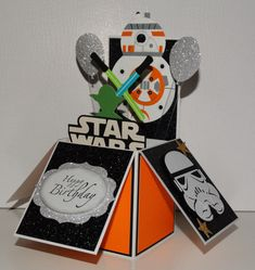 Star Wars Bb8 Happy Birthday handmade 3D pop up greeting card