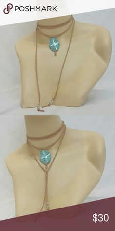 ??JUST IN?? Boho Lariat Wrap Choker One of a kind! This suede choker is a hot trend this season. This necklace is sexy and is very versatile. It features a beautiful stone pendant. Wear it different ways as shown, plus any other way you can think up.  No brand. Listed as Free People for exposure. Free People Jewelry Necklaces
