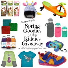 """$400 value """"Spring Goodies for the Kiddies #Giveaway"""" -  click to read about the 9 amazing brands and prizes in the jackpot - we've got toys, clothes, shoes, and picnic wares and enter to #WIN!!!"""