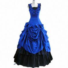 fbc659034488 Partiss Damen aermellose Ballkleid gotische Lolita Abendkleid mit Bowknot  fuer die Hochzeit  Amazon.de  Bekleidung