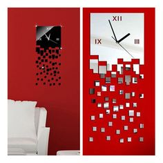 3D DIY Luxury Mirror Mosaic Sticker Decoration Decal Art Wall Clock LJN #WHATWEARS #Modern