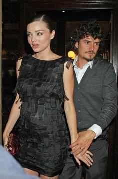 Miranda Kerr and Orlando Bloom in Milan