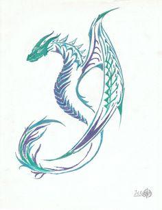 water dragon tattoo - Google Search