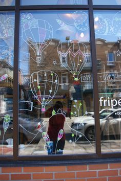 Illustrations dans vitrine/ store window art