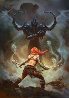 galaxynextdoor:  Barbarian (Diablo III) by ShenFei