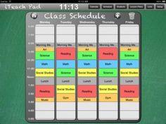 iTeach Pad Scheduling module picture