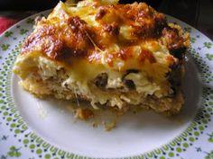 Húsos rakott karfiol. Hungarian Cuisine, Hungarian Recipes, Hungarian Food, Mozzarella, Lasagna, Food And Drink, Yummy Food, Sweets, Healthy Recipes