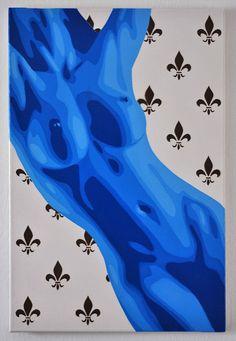 BLUE NUDE I - Multilayer Stencil Art   Spray paint on canvas…   Flickr