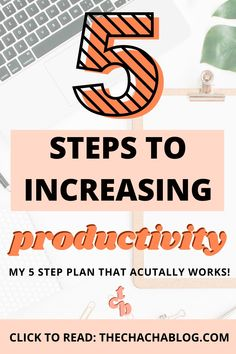 5 ways to increase your productivity and get your shit together like a boss! Productivity tips, productivity hacks, productive things to do, productive morning routine, productive day routine, list of productive things to do, procrastination tips, how to stop procrastination, time management, how to plan time management, how to plan your day ideas, how to set goals, how to meet your goals, plan your day, daily checklist, daily method for success