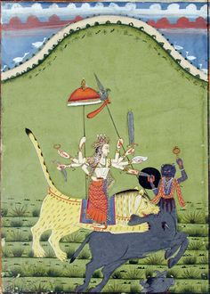 Image of Durga, Rajasthan School, 184, San Diego Museum of Art