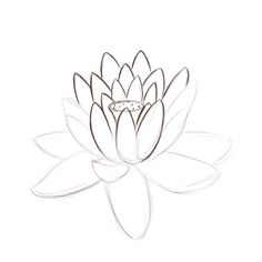 How to draw a lotus, Idea for mosaic project! Art Therapy