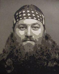 Duck Dynasty - Willie paper cut portrait.