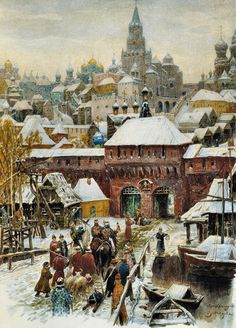 Васнецов Виктор Михайлович Claude Monet, Pierre Auguste Renoir, Russian Painting, Russian Art, Russian Style, Love Painting, Painting & Drawing, Medieval, Russian Architecture