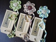 Image detail for -patch.stitch.button: Button Love's Flower Crochet Bookmarks