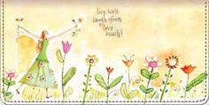 Garden Graces Checkbook Cover by Lori Siebert