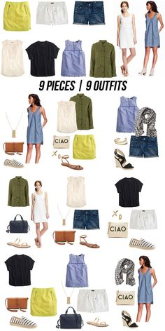 9 pieces | 9 outfits… summer!
