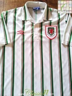 Relive Wales' 1993/1994 international season with this original Umbro away football shirt.