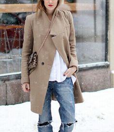 Snowy weekend wear.
