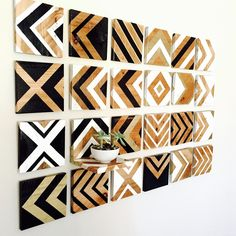Large Wood wall art Gold Decor Reclaimed Wood by CottonwoodCanopy Large Wood Wall Art, Reclaimed Wood Wall Art, Wood Wall Decor, Diy Wall Art, Wood Art, Art Decor, Chevron Wall Art, Wall Art Crafts, Diy Wood