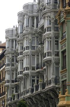 Casas del Cuitu. Calle Uria  Oviedo Asturias  Spain