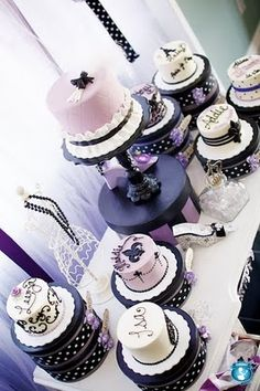 Instead of a big cake, we could do small cakes on hat boxes for the My Fair Lady Theme!?!